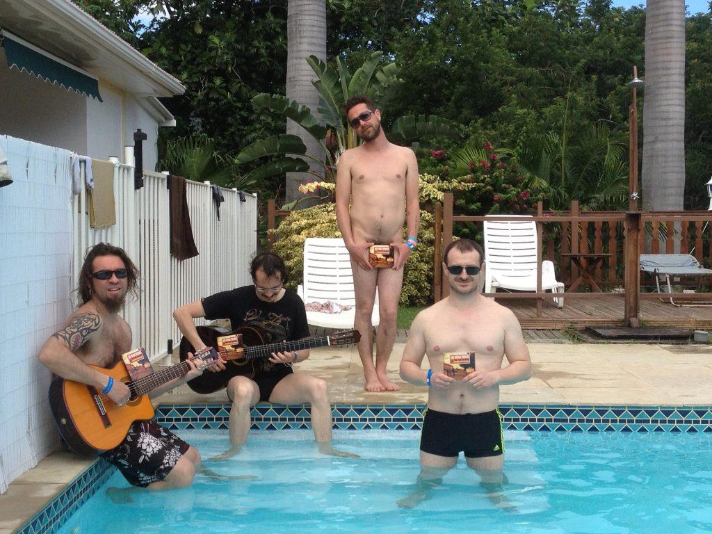 Opération com' dans la piscine