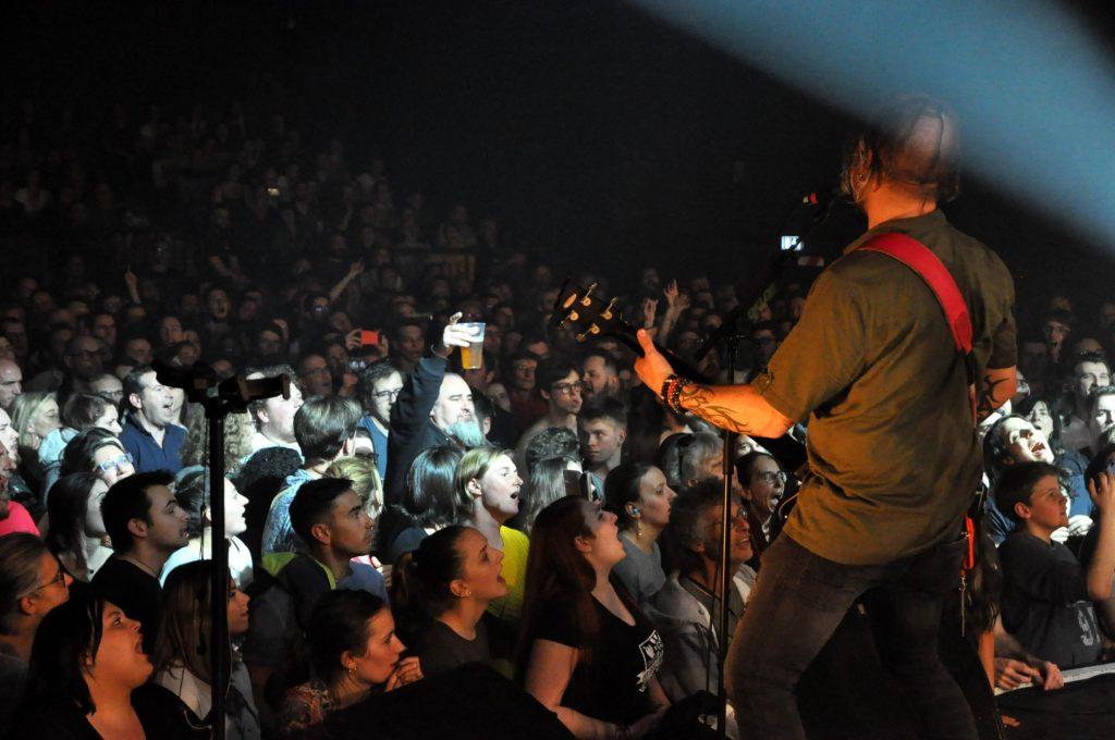 concert, musique, public, foule