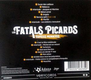 9e album des Fatals picards, dos de pochette